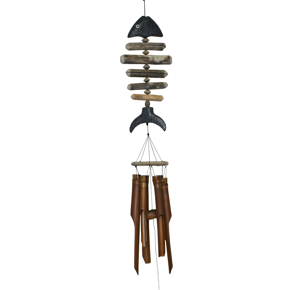 109S - Bonefish w/ Dots Bamboo Wind Chime
