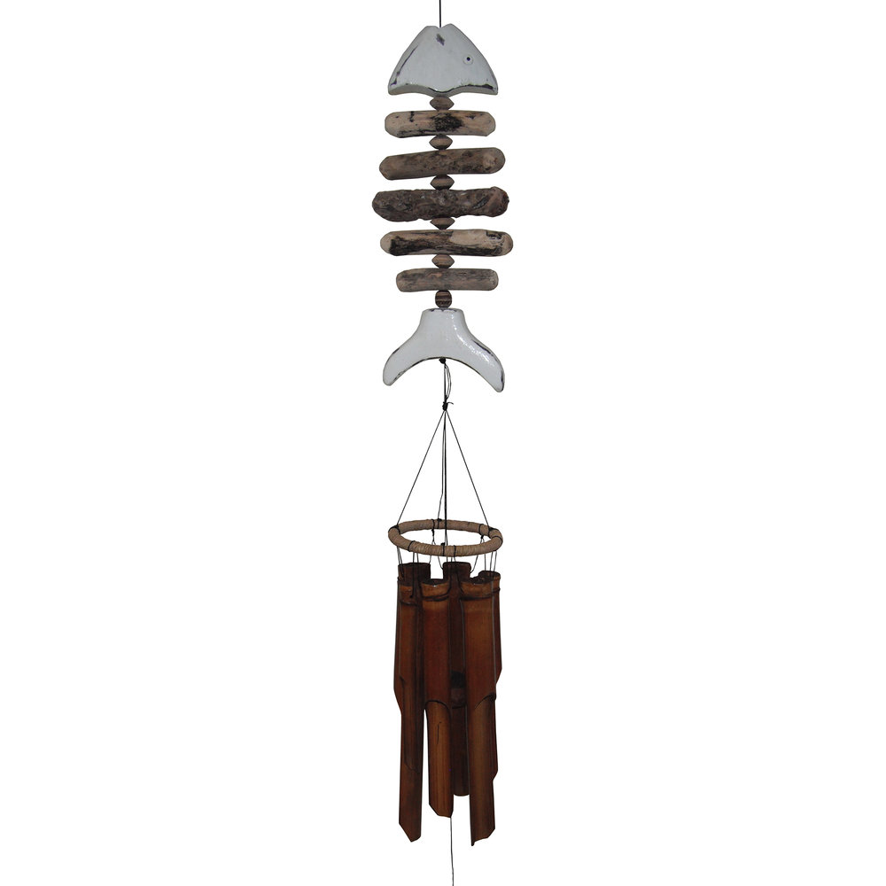 109W - White Tail Bonefish Bamboo Wind Chime