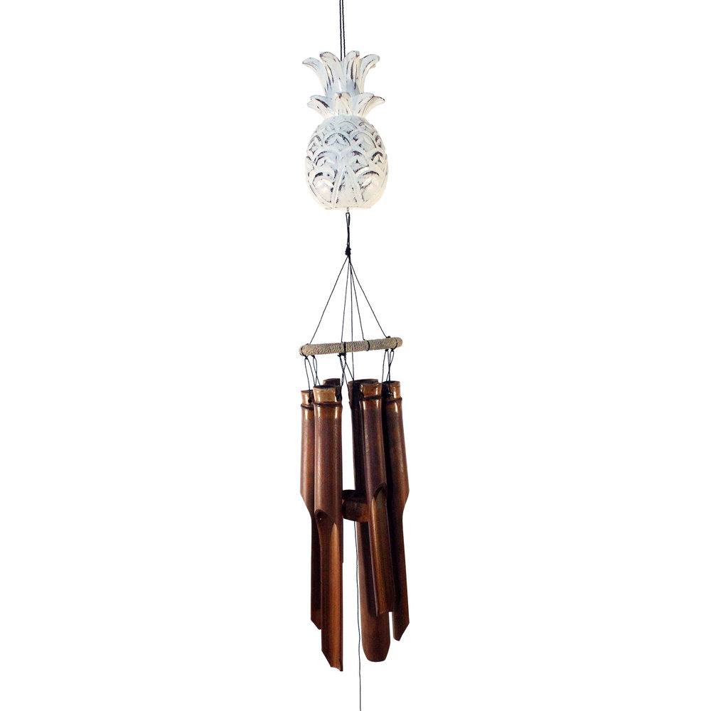 148PW- Pineapple Bamboo Wind Chime