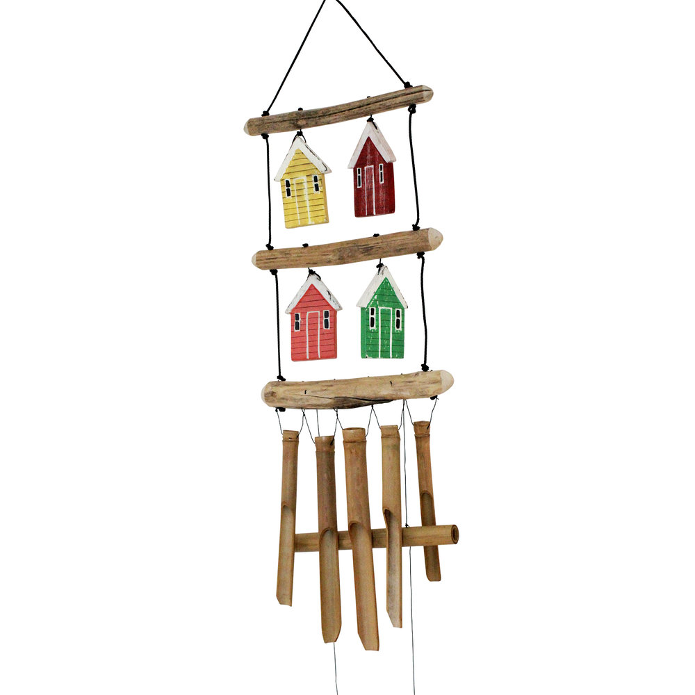 207 - Beach Village Bamboo Wind Chime