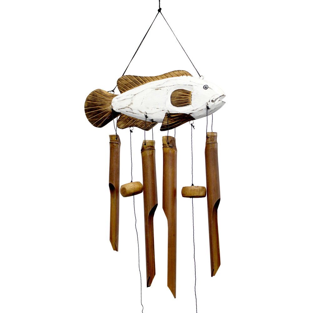 214WF - Sun Fish Bamboo Wind Chime