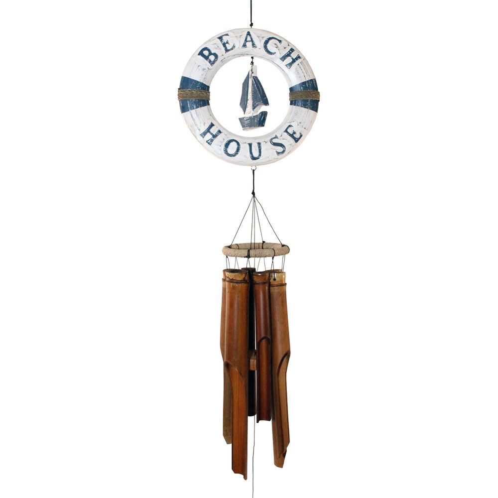216LRB- Life Ring Boat Bamboo Wind Chime