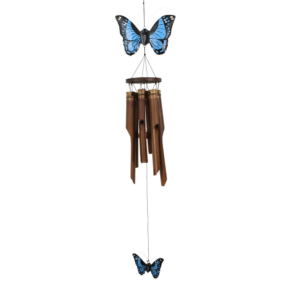 186 - Butterfly Bamboo Wind Chime