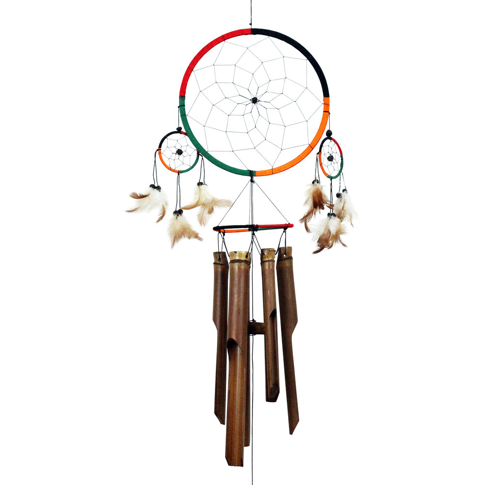 155 - Dream Catcher Bamboo Wind Chime