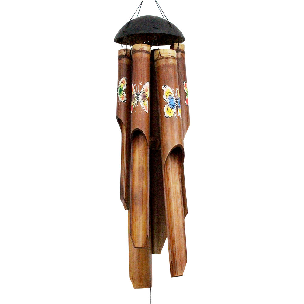 163, 164, 165 - Rainbow Butterfly Simple Bamboo Wind Chime
