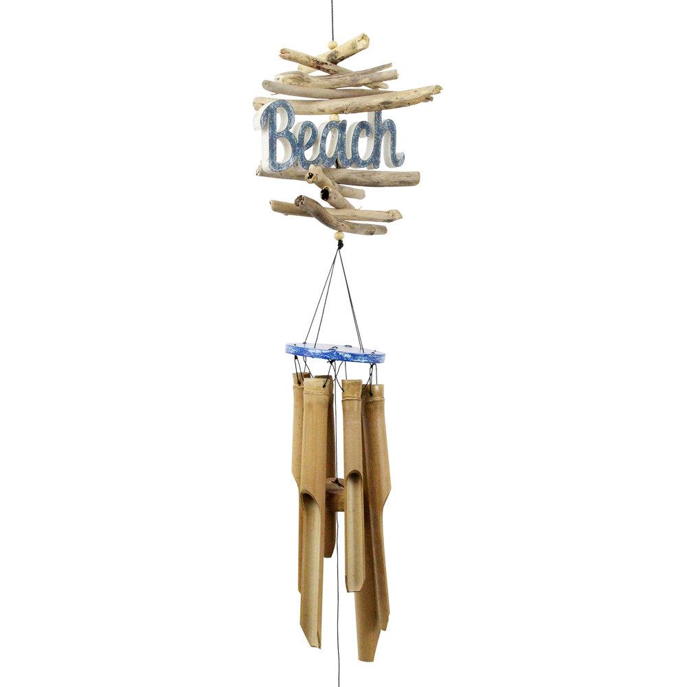 208 - Beach Logo Bamboo Wind Chime