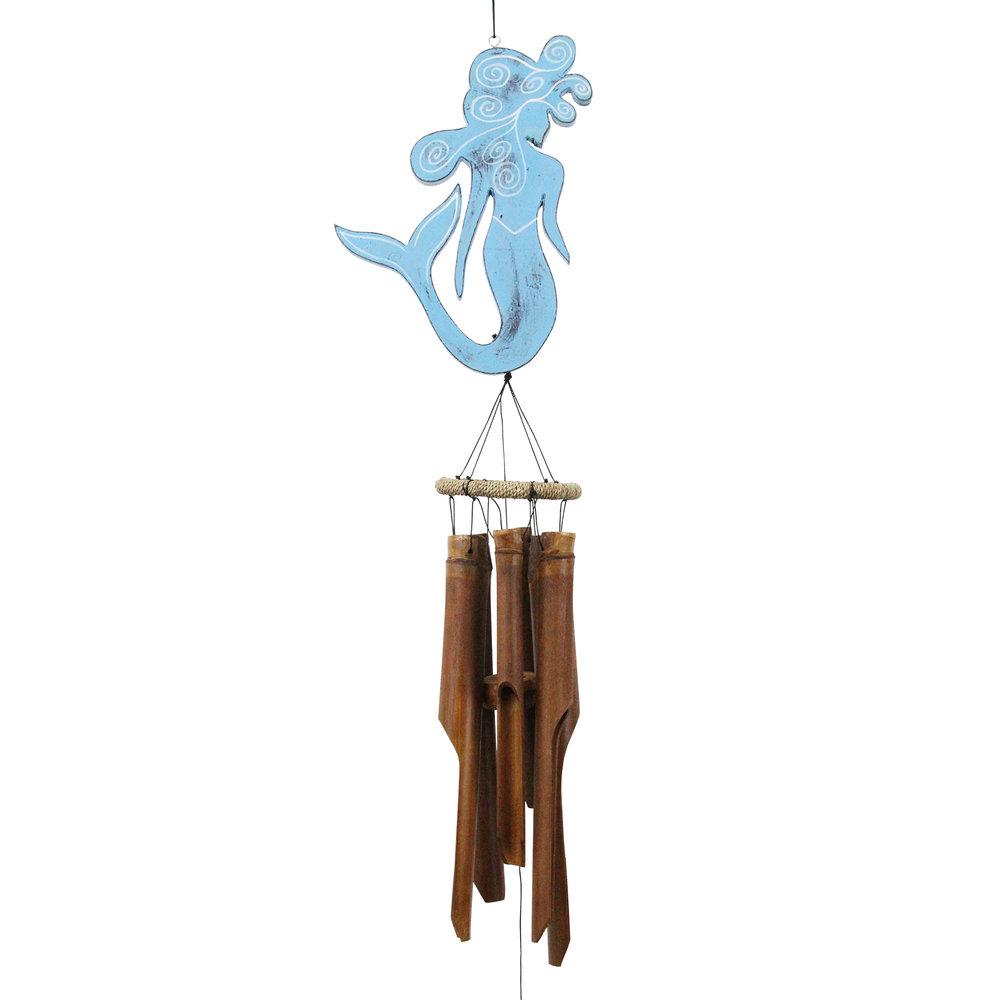 210B - Blue Mermaid Bamboo Wind Chime