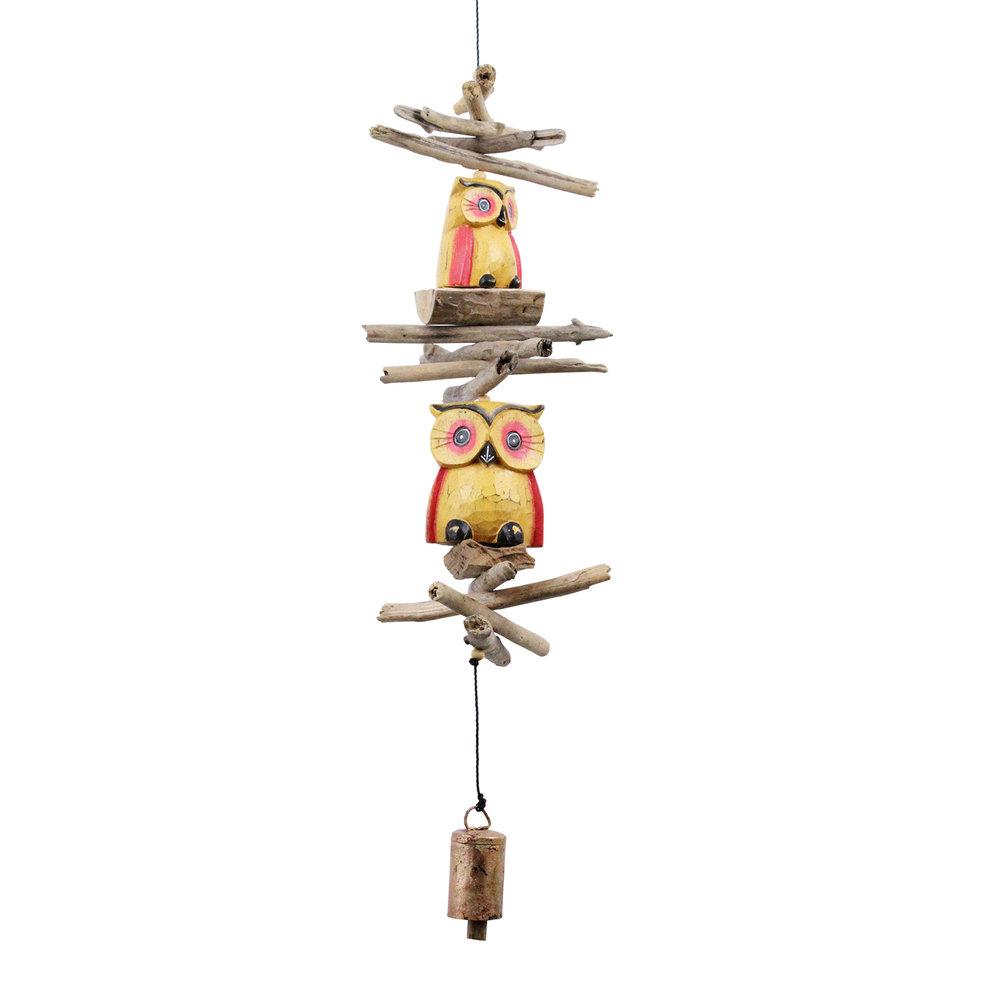 618 - Yellow Oscar Owl Cohasset Bell