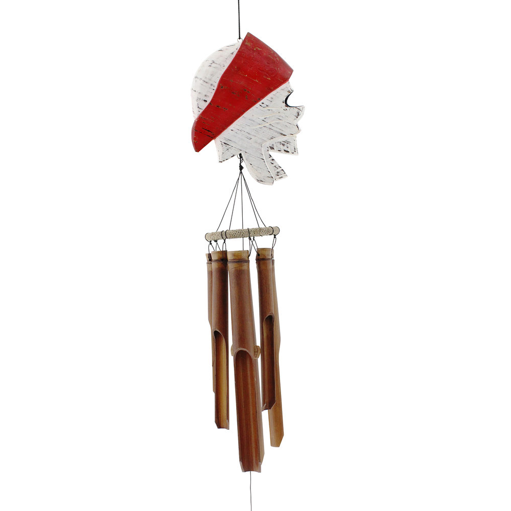 116PR - Red Pirate Bamboo Wind Chime