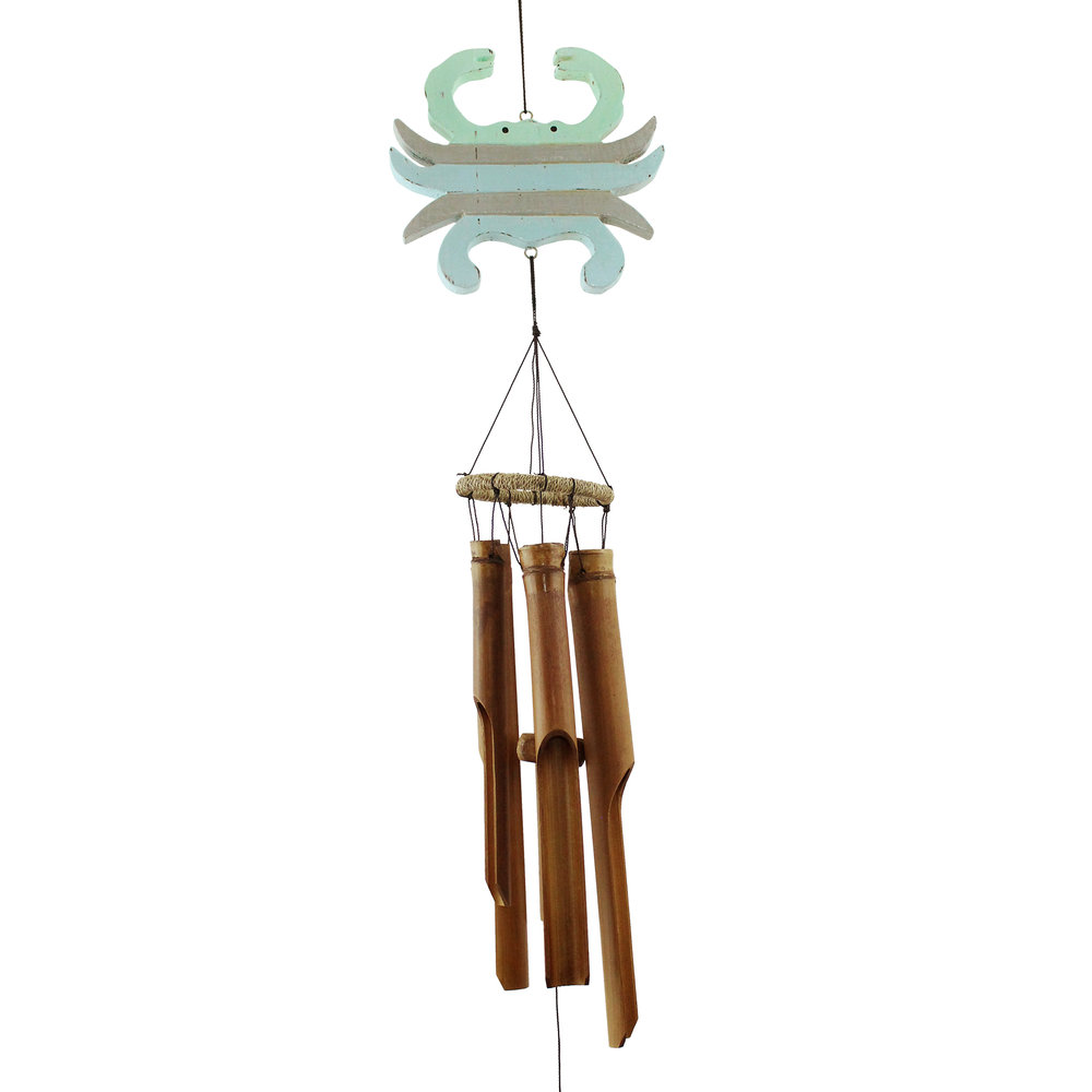 110P - Pastel Crab Bamboo Wind Chime