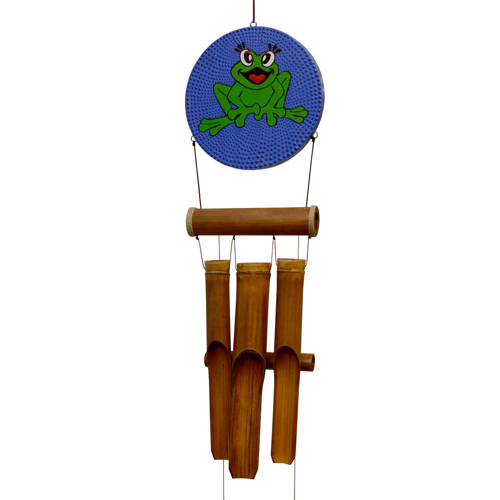 """277H - Happy Frog """"Dots"""" Harmony Wind Chime"""