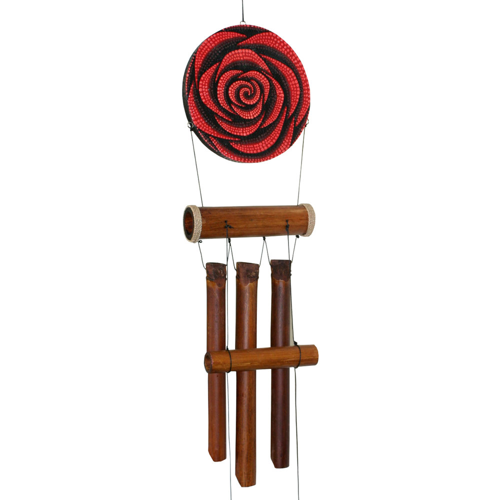 """279H - Red Rose """"Dots"""" Harmony Wind Chime"""