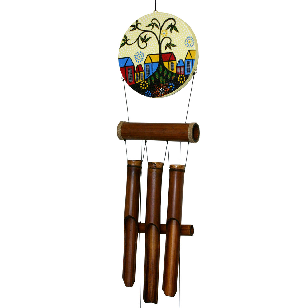 """294H - Village """"Dots"""" Harmony Wind Chime"""