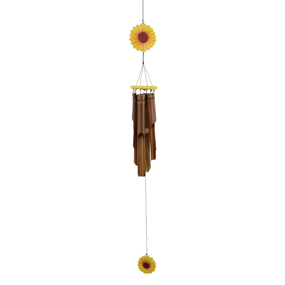 149 - Sunflower Bamboo Wind Chime
