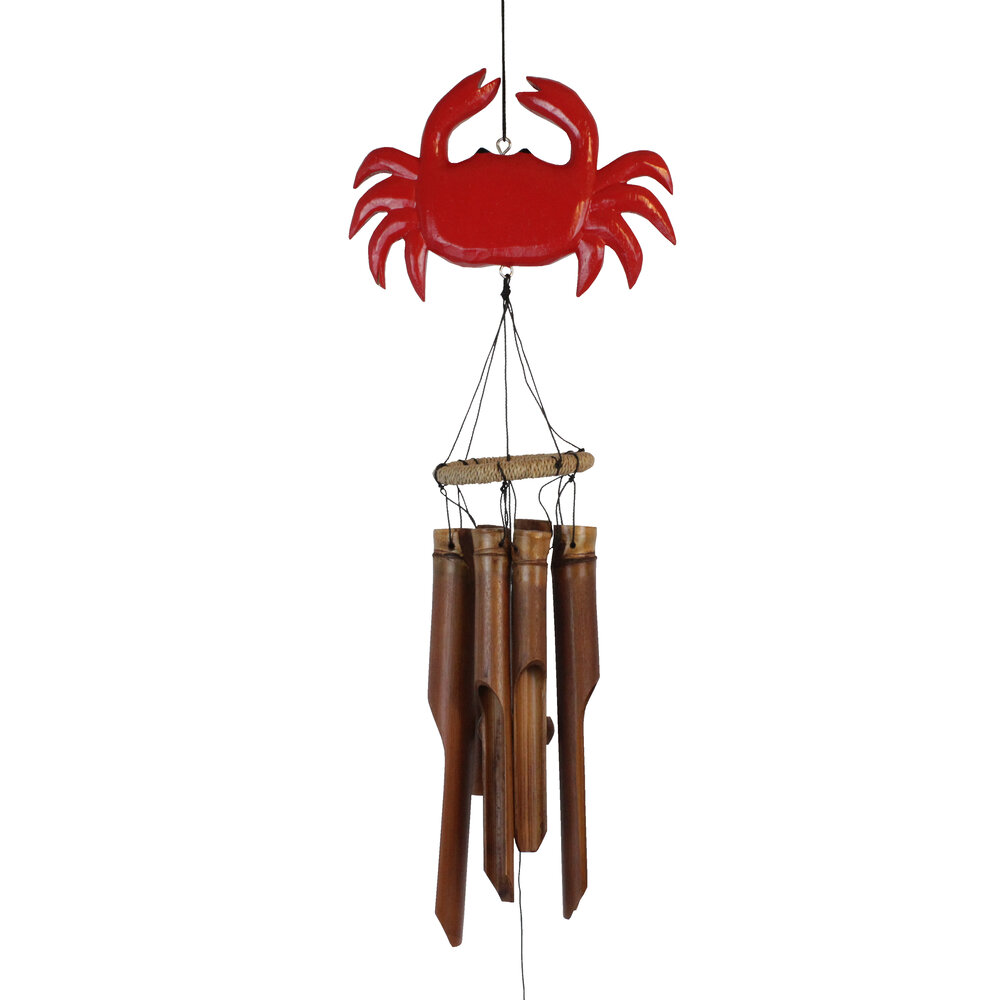 110R - Red Crab Bamboo Wind Chime