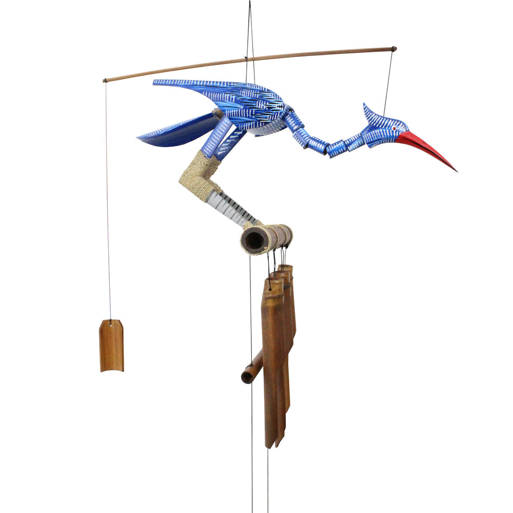 147B - Happy (Blue Bird) Bobbing Head Wind Chime