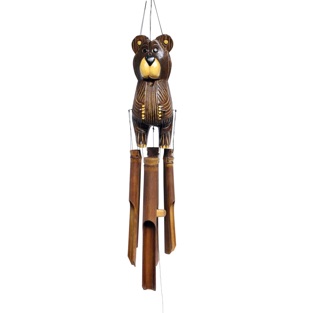 150 - Barry Bear Bamboo Wind Chime