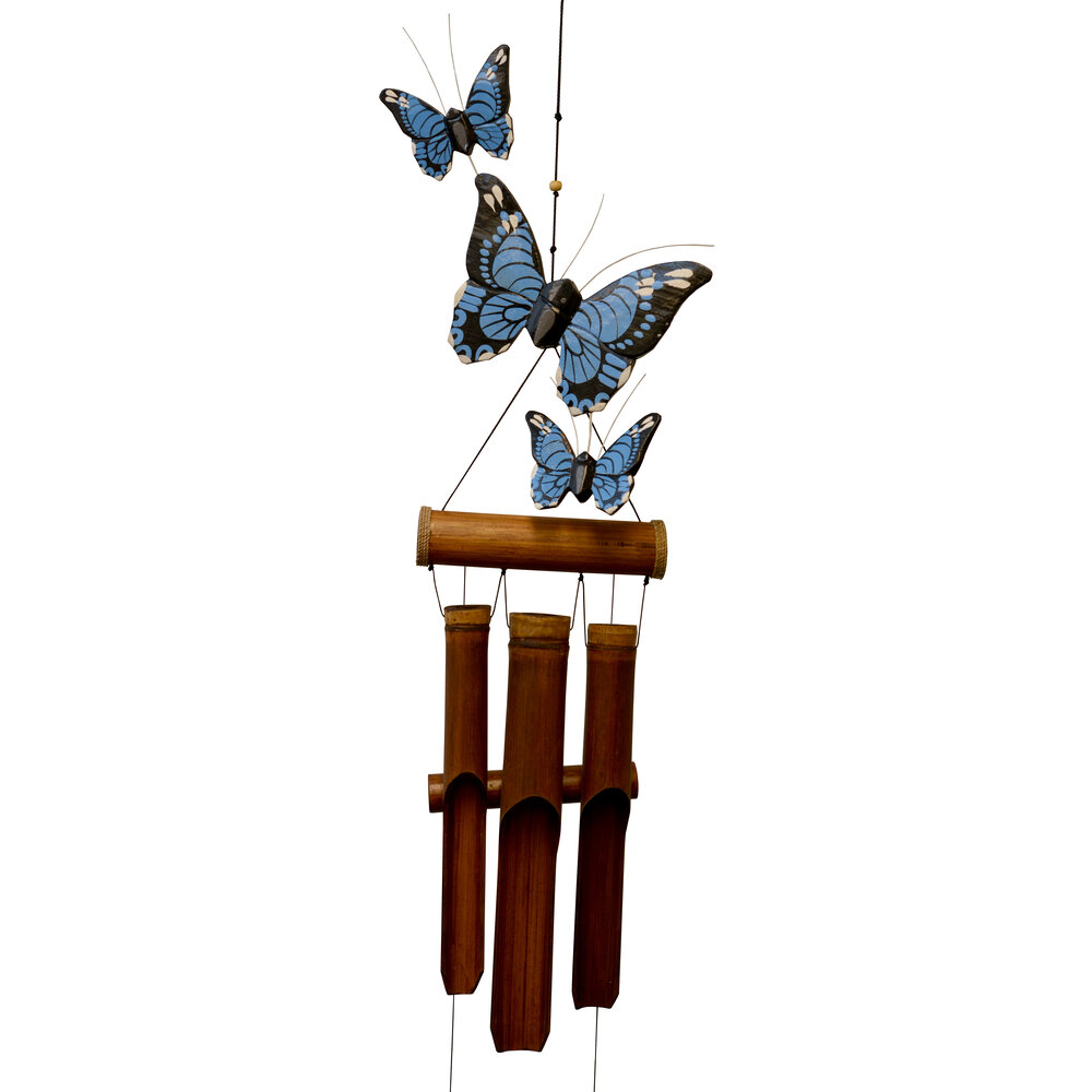 186BH - Blue Butterfly Harmony Chime