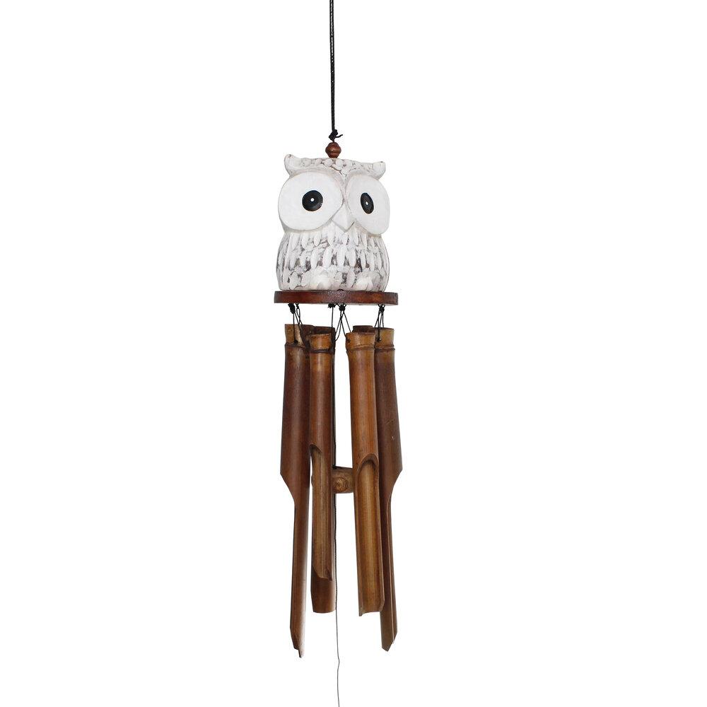 245-15 Oogle Owl Bamboo WInd Chime