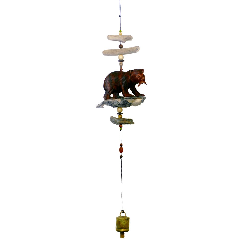 547 - Bear w/ Salmon Bell