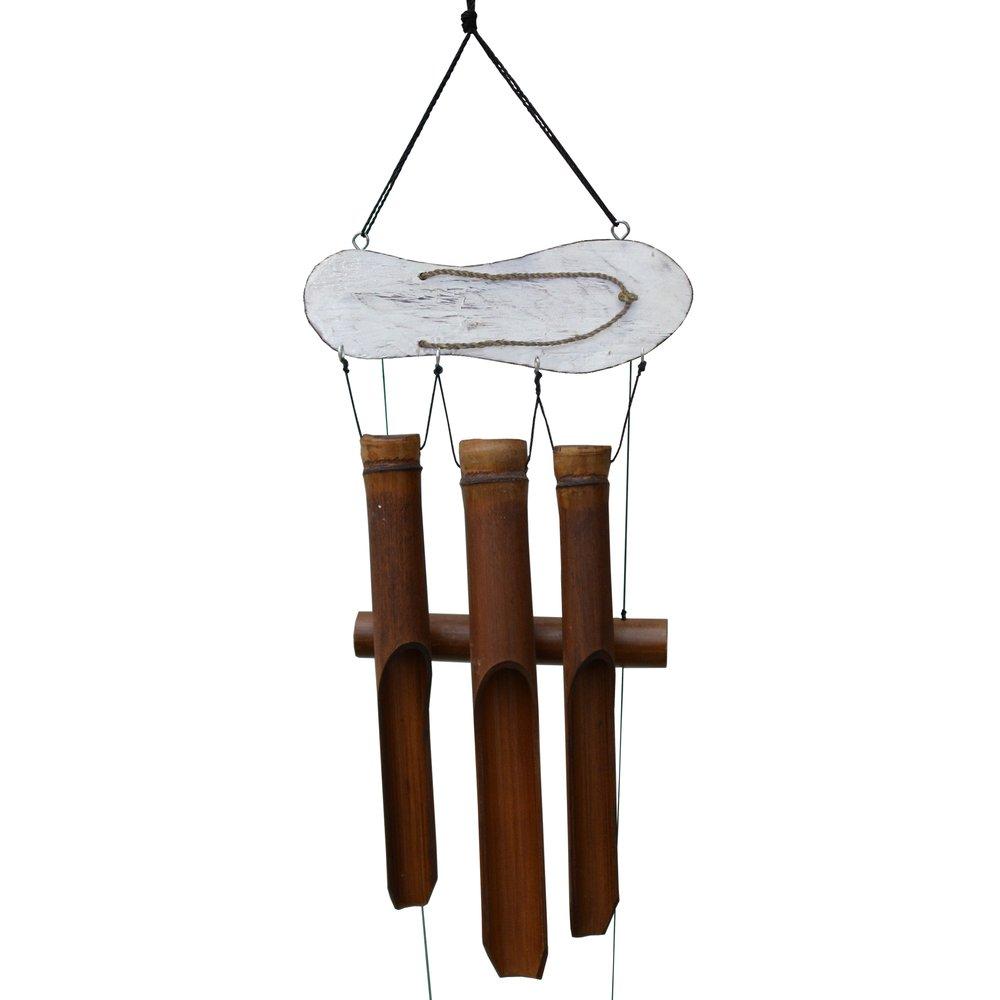 111W - White Sandal Bamboo Wind Chime