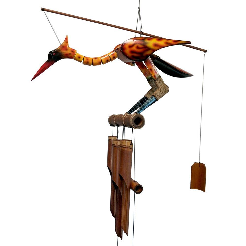 147P - Phoenix II Bobbing Head Bamboo Wind Chime