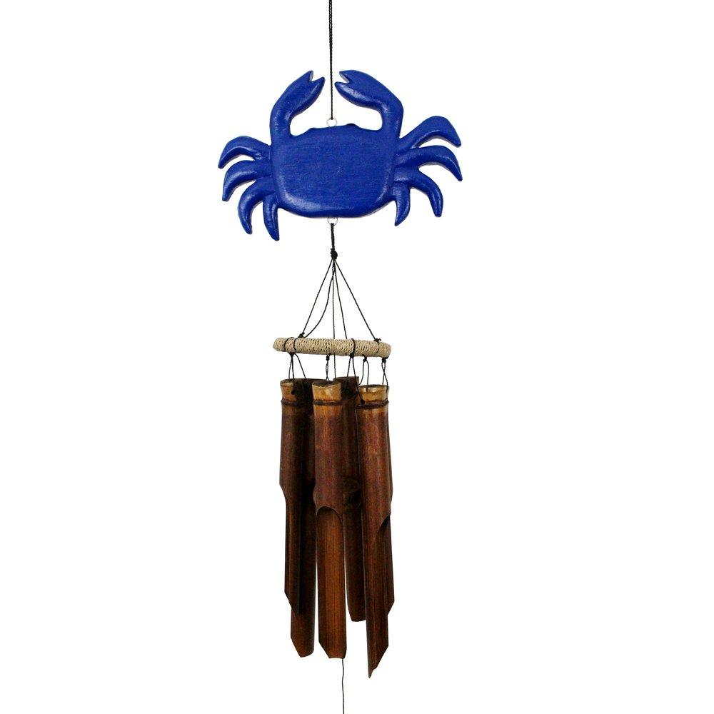 110B - Blue Crab Bamboo Wind Chime