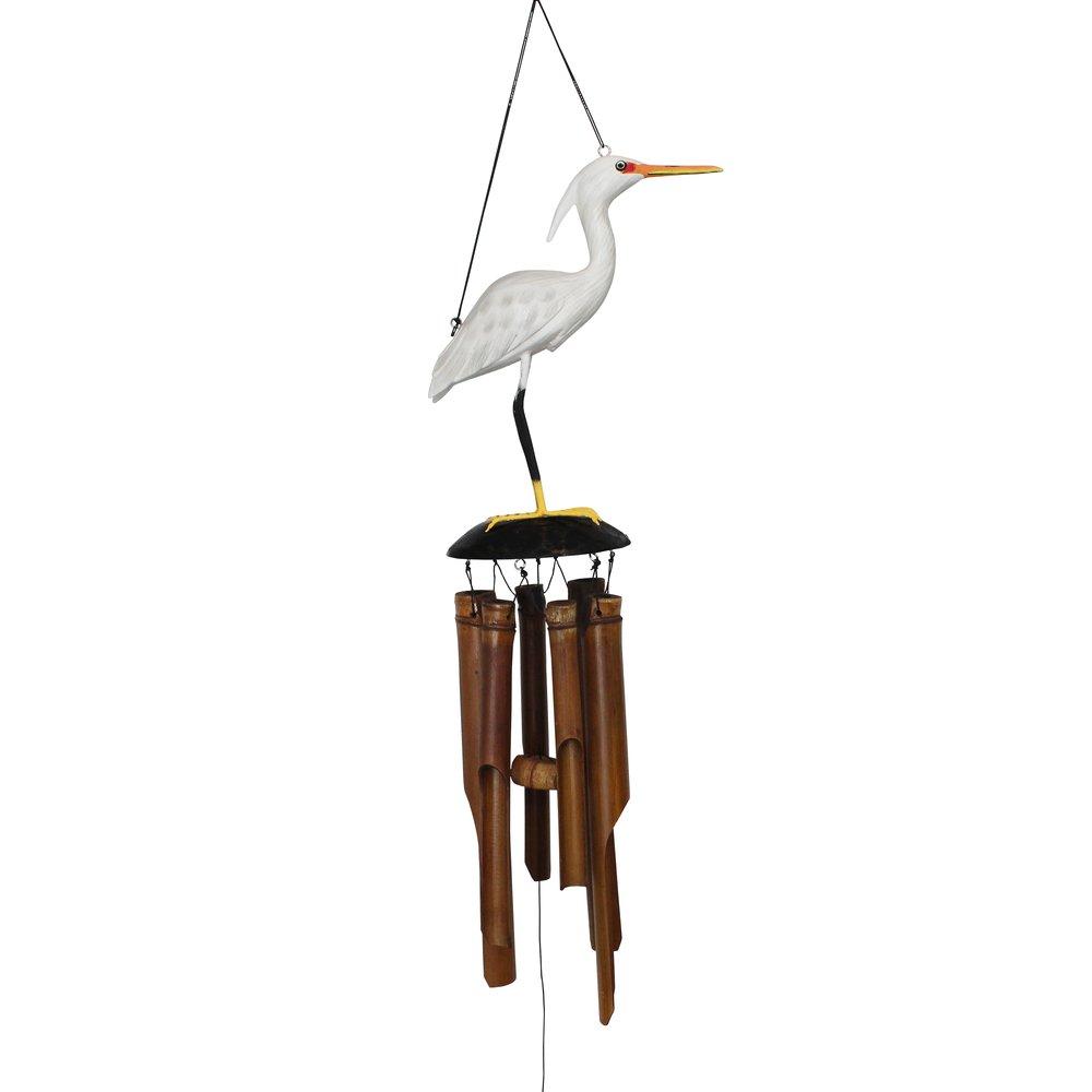 217 - Egret Bamboo Wind Chime