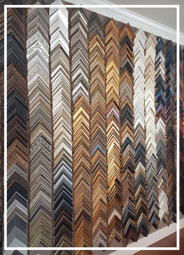custom frames. \u0026nbsp; \u0026nbsp;We Have An Enormous Selection Of Custom Molding As Well Frames