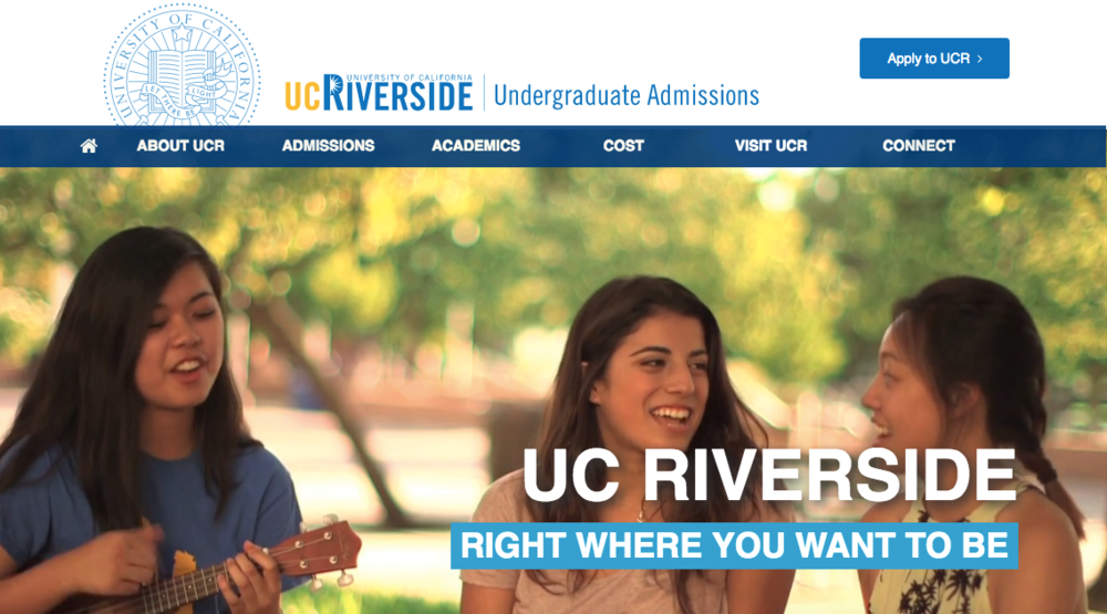 UCR Admissions Website