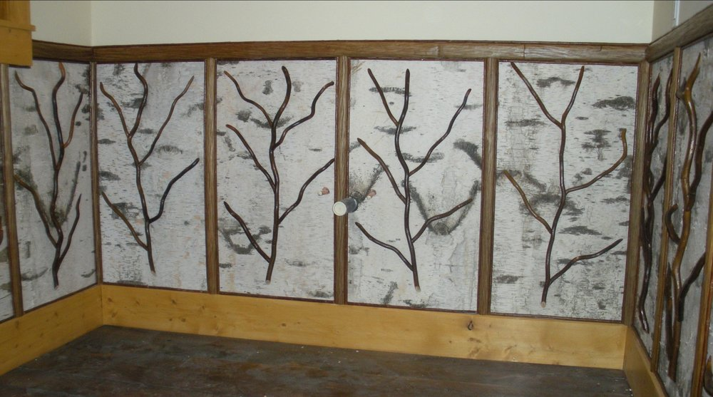 Birch Bark Wall Panels