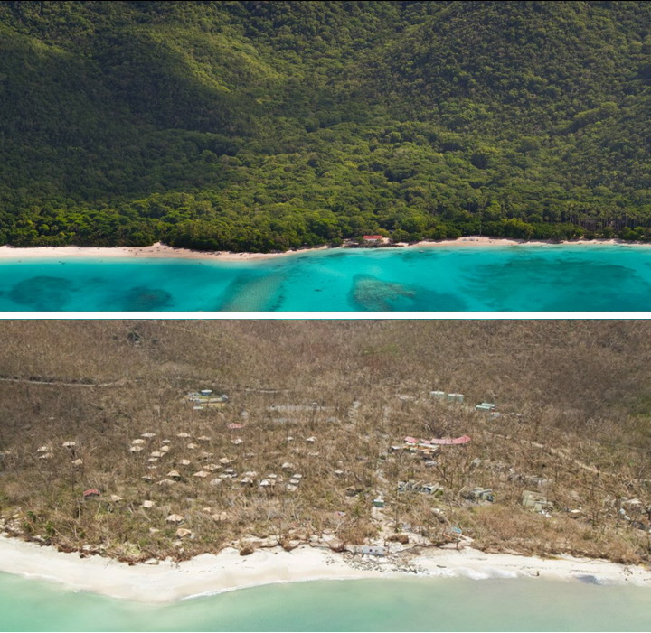 St. John's Cinnamon Bay, before and after.