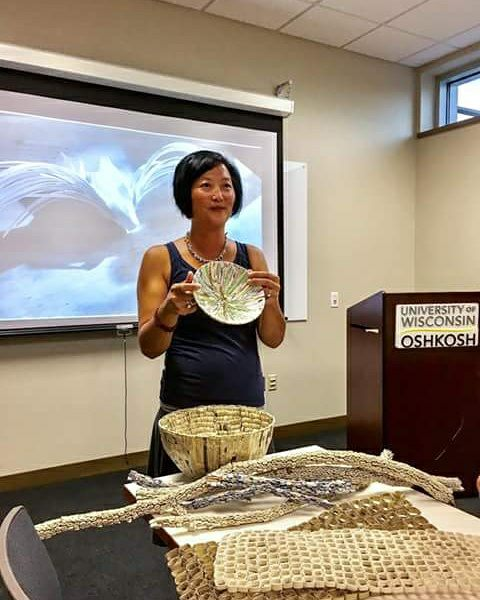 - Art Lecture: What the Paper RevealsSeptember, 2017. Guest lecturer at the Oshkosh Fine Arts Association. She spoke about her paper sculptures, how she makes them, and what they've revealed.