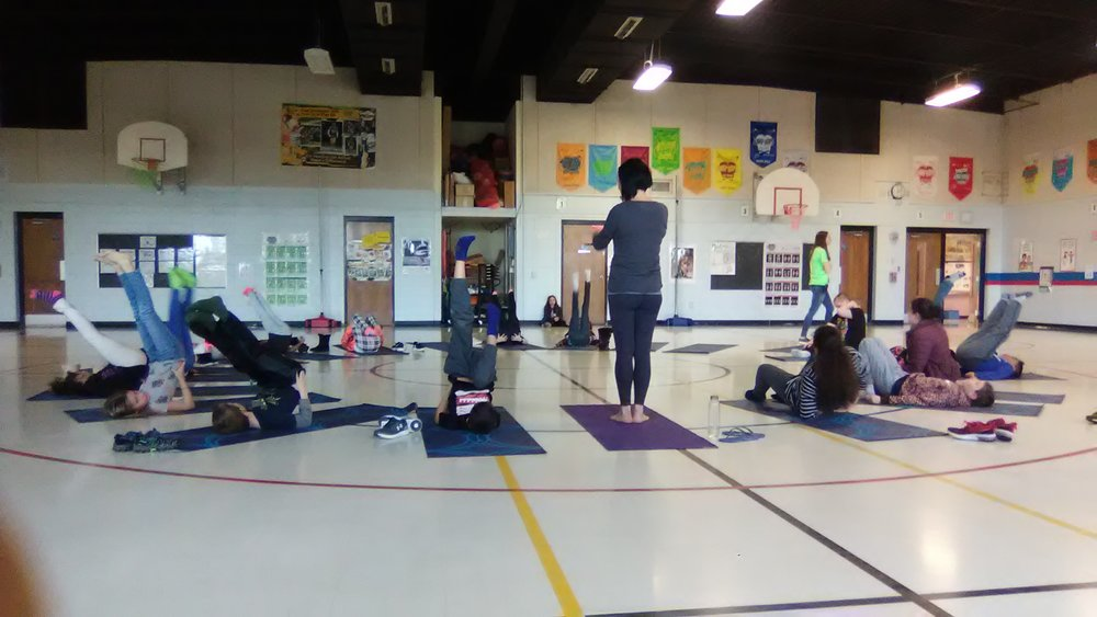 Yoga in School - Lora has been going into Friendship Learning Center in North Fond du Lac twice a week for the 2018 - 2019 school year. She has watched the students reap the benefits of a regular yoga practice. At the start of the school year the students wanted to do active postures, but as the year has progressed they are appreciating the relaxing aspect of yoga.