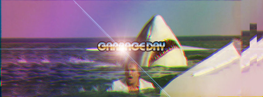 Garbage Day Shark Banner