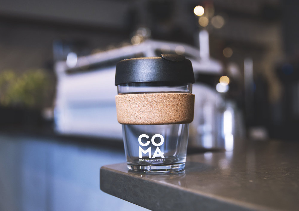 KeepCup - This gift is for the classy enviromentilist. Made from fully tempered soda lime glass, KeepCup Brew Cork Edition features a natural cork band. Recieve a discount every time you use it at Coma! $25.00