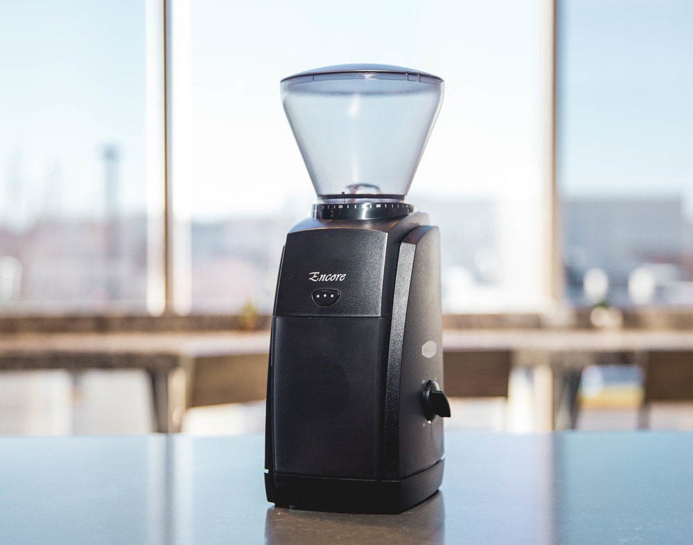 Baratza Encore Grinder - This home burr grinder is a great addition for any coffee lover. The Encore is exceptional at producing consistent grinds from very fine to very coarse as well as being durable and will remain sharp for many years. In addition, it has a very small footprint so it won't take up too much space on the counter. $139.00