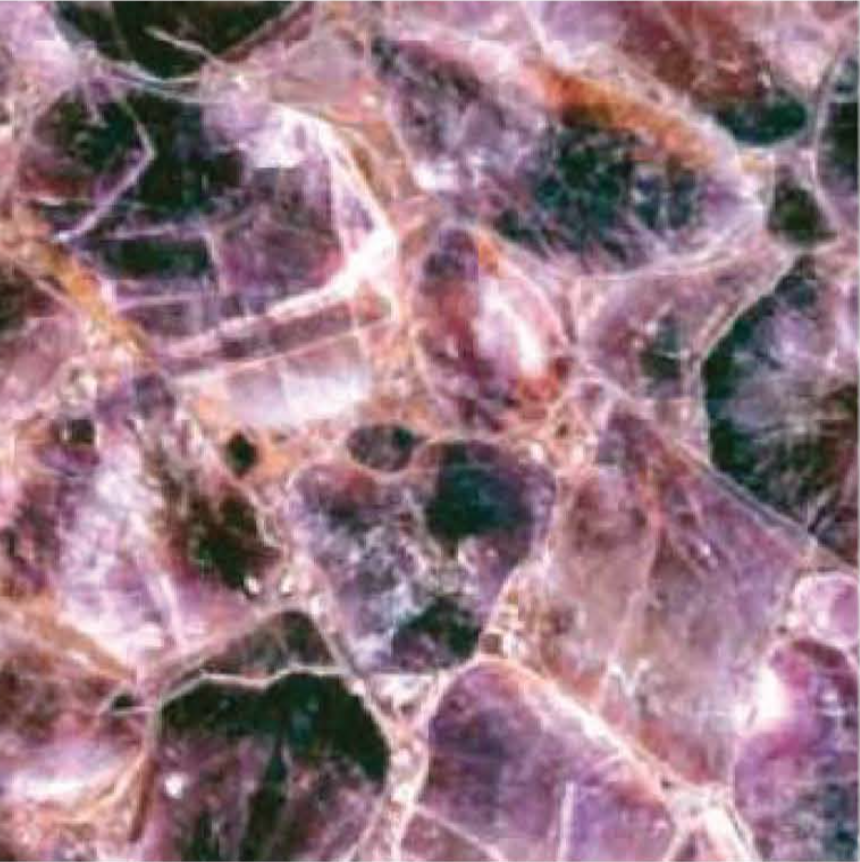 "GEMSTONE AMETHYST POLISHED STONE 56"" x 114"" x 3/4"" SLAB"