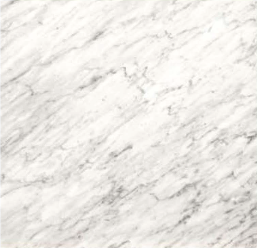 "BIANCO CARRARA HONED STONE 1-1/4"" SLAB 3CM THICK"