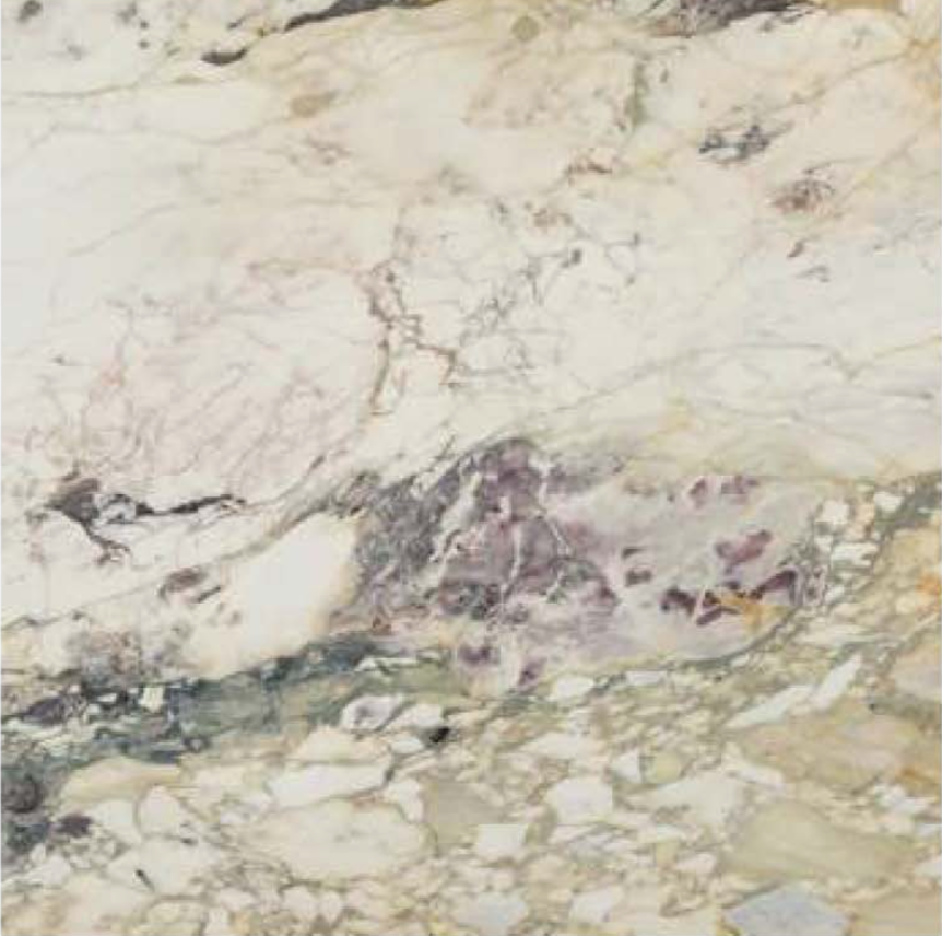 "BRECCIA VIOLA POLISHED STONE 3/4"" SLAB"