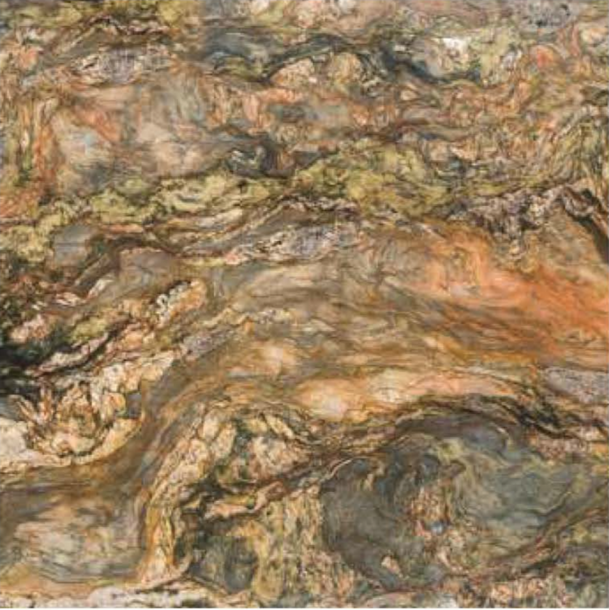 "FUSION WOW MULTICOLOR POLISHED STONE 1-1/4"" SLAB 3CM SLAB"