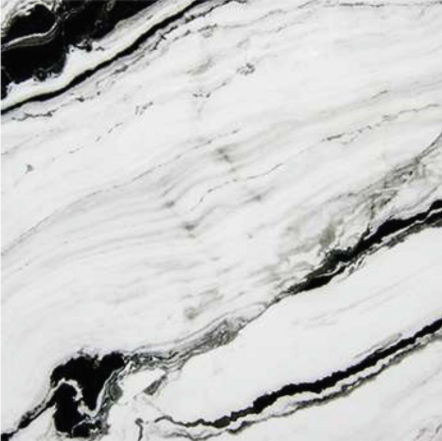 "PANDA WHITE POLISHED STONE 3/4"" SLAB 2CM THICK"