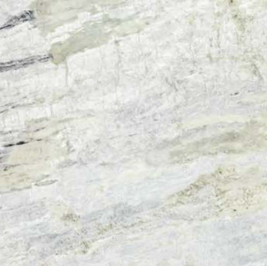 "PRINCESS WHITE POLISHED STONE 1-1/4"" SLAB 3CM THICK"