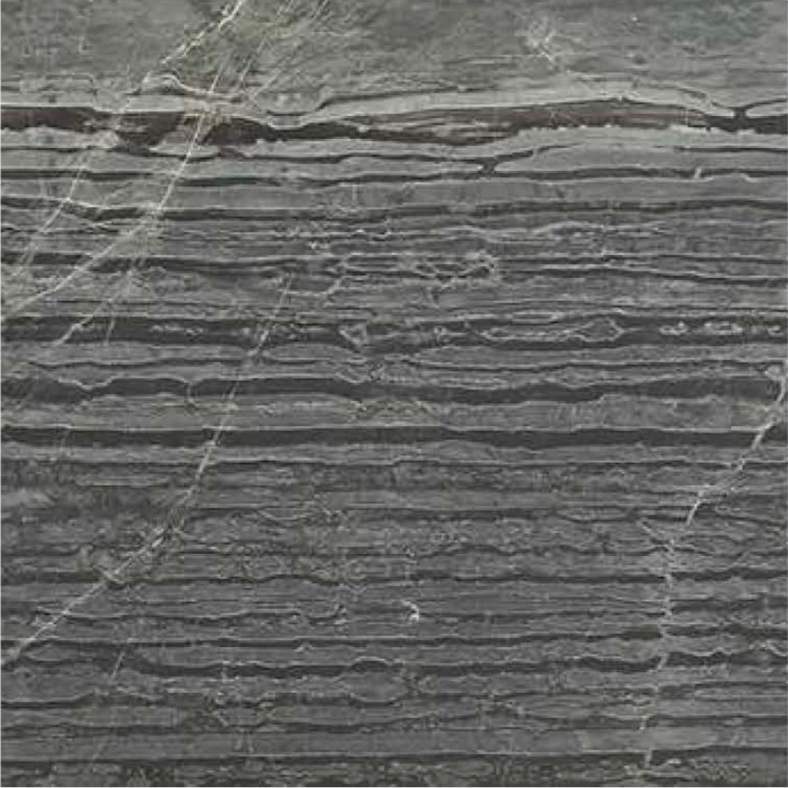 "ZEBRANO VEIN CUT DEEP BRUSHED STONE 1-1/4"" SLAB 3CM THICK"