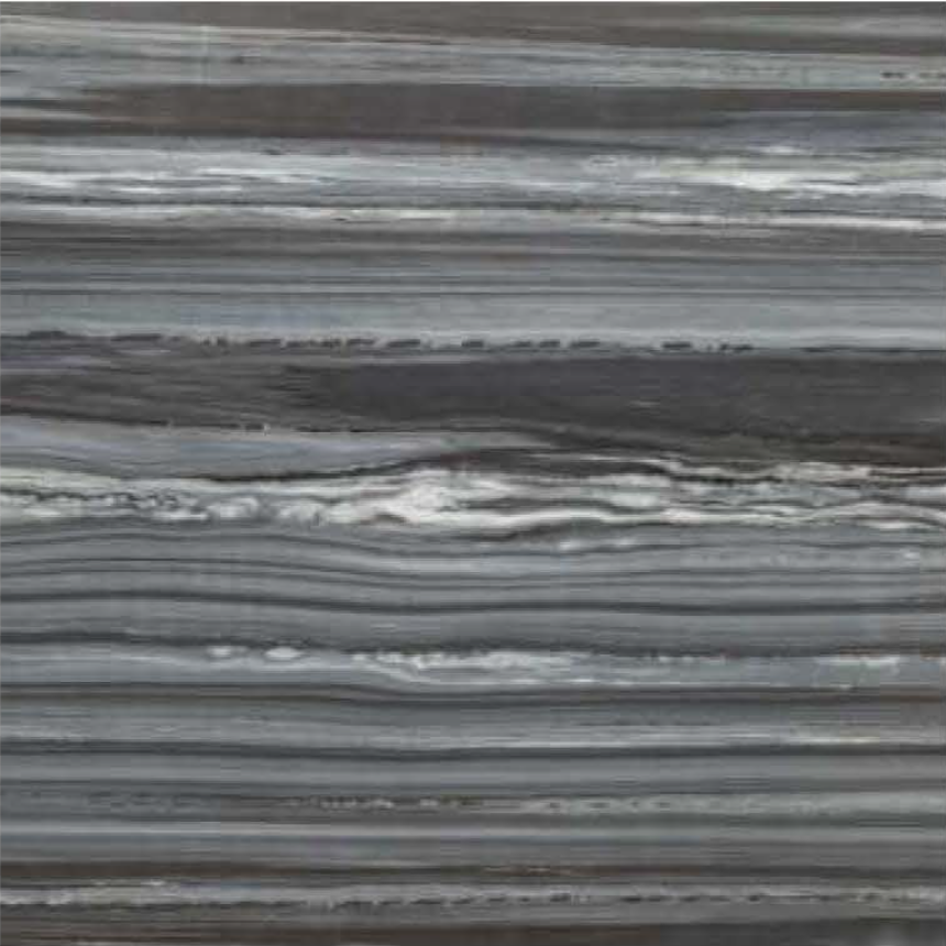 "ZEBRINE BLACK POLISHED STONE 3/4"" SLAB 2CM THICK"