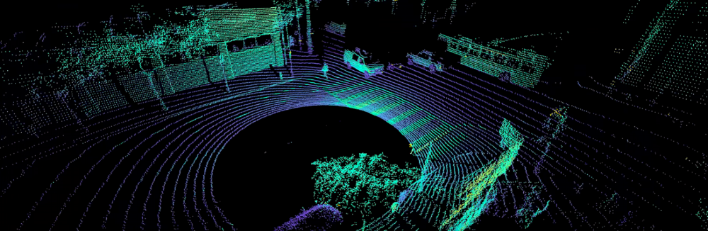 Point cloud output from a single OS1-64 sensor.