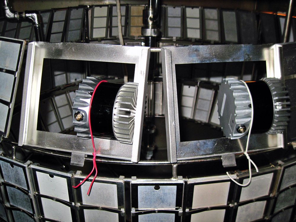 OS-1 lidar sensors undergo accelerated UV testing.