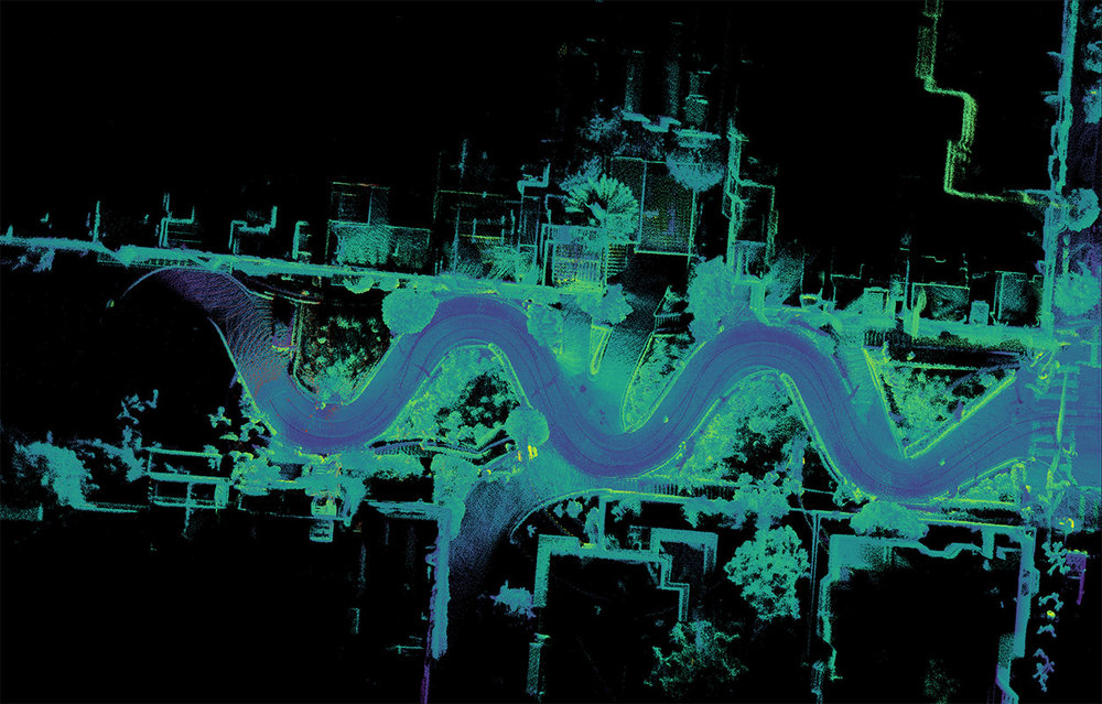 San Francisco's Lombard Street captured with 3 OS-1 lidar sensors