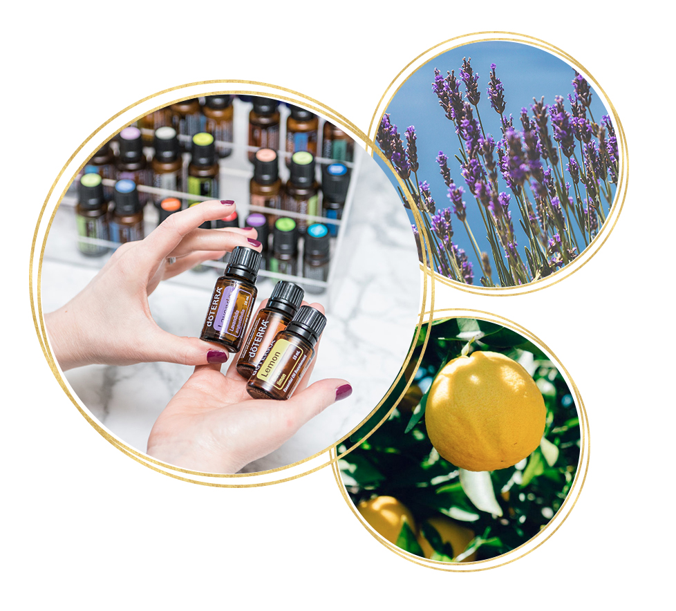 Non-toxic wellness with essential oils like lavender and lemon