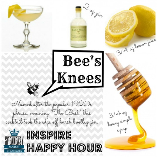Prohibition Bees Knees Cocktail